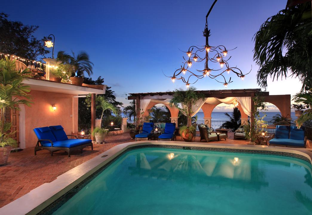Cafe Luna Barbados pool view