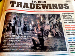 Island Fire Makes front Page of the St John Tradewinds