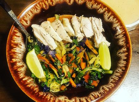 Paleo Chicken Pad-Thai! (Whole 30, SCD, Low-fodmap option, vegan option)