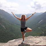 Kim Howard Tree Pose on Willard.JPG