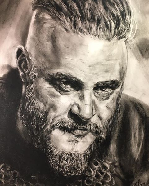 Ragnar Lothbrok 2016 portrait from the show Vikings