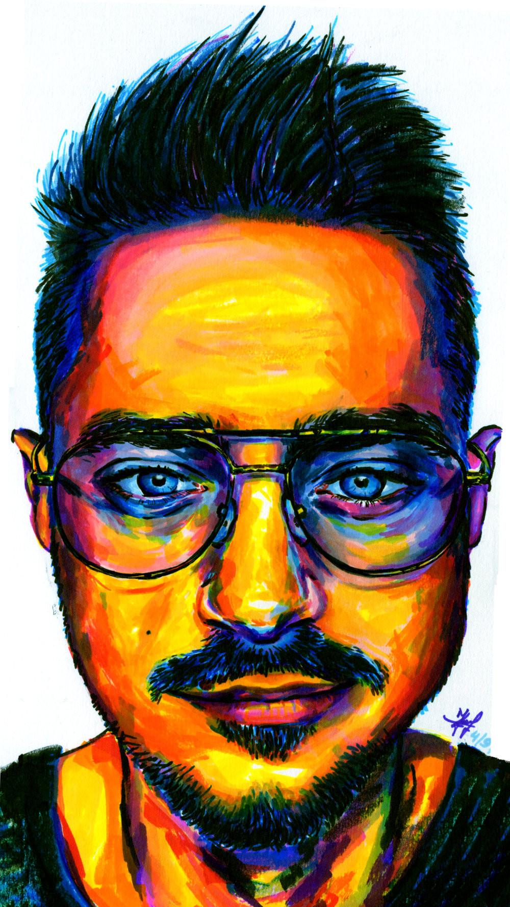 Selfie XXIII (prisma color markers)
