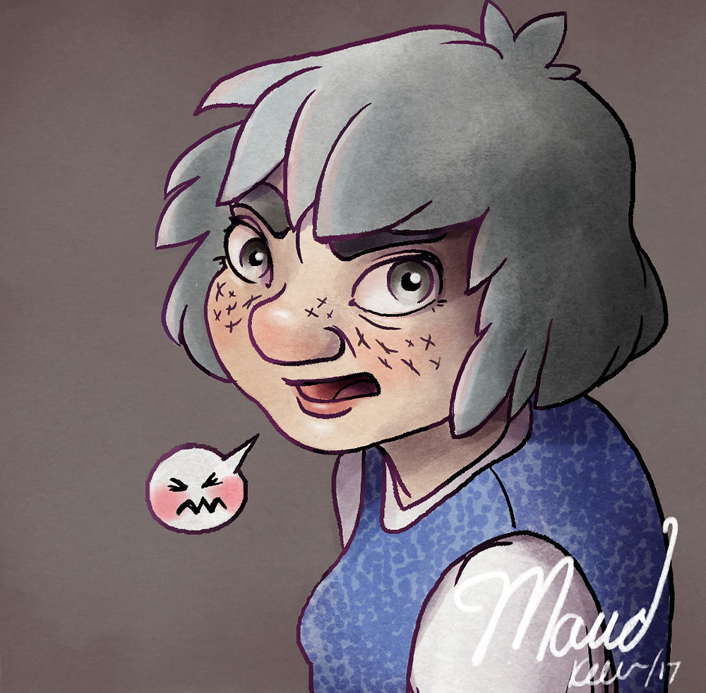 "Maud, the main character of ""Masks"""
