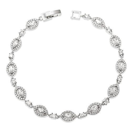 Bitter Sweet Bridal Silver Cubic Zirconia Bracelet 137429