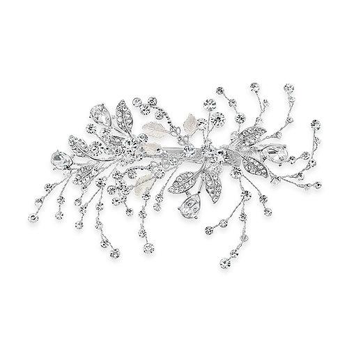 Bridal Silver Leaf Hair Clip 142032