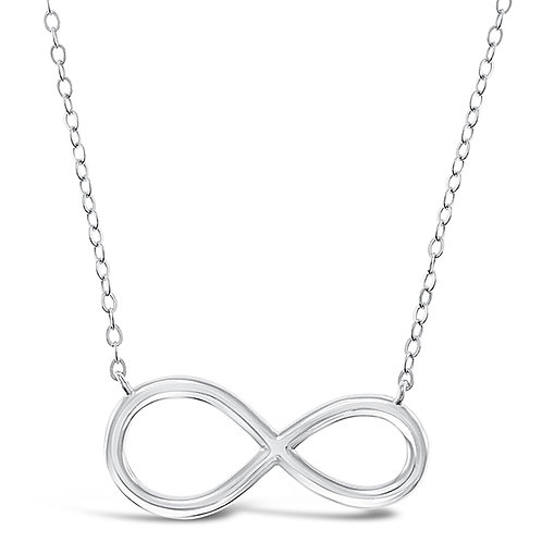Bitter Sweet Sterling Silver Infinity Necklace 143407