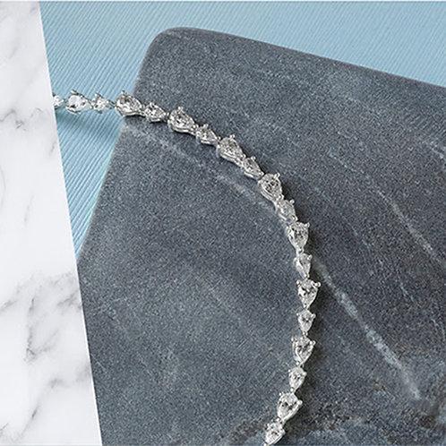 Bitter Sweet Sterling Silver Cubic Zirconia Bracelet 132990