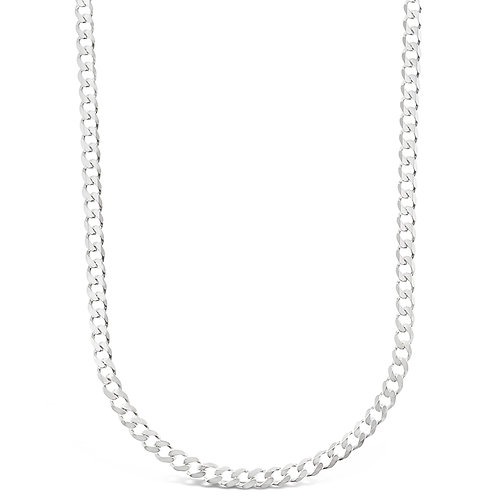 "Bitter Sweet Sterling Silver Cuban 18"" Necklace 142967"