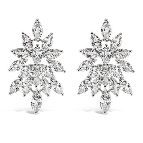 Bitter Sweet Bridal Silver Cubic Zirconia Stud Earrings 143589