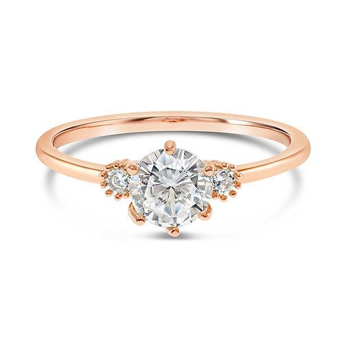 Bitter Sweet Fashion Rosegold Cubic Zirconia Ring 141877