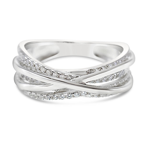 Bitter Sweet Sterling Silver Cubic Zirconia Ring 143202