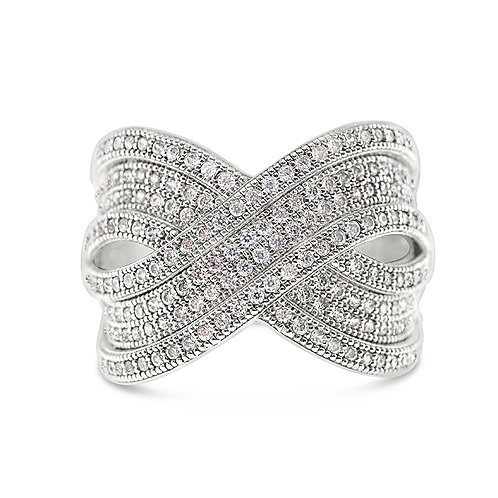 Sterling Silver Cubic Zirconia Ring 119607