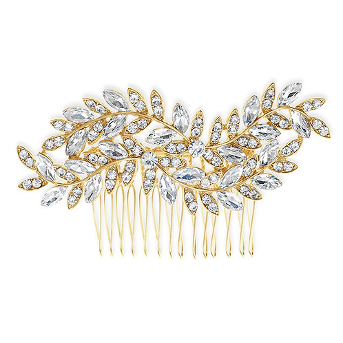 Bridal Gold Leaf Hair Comb 142051