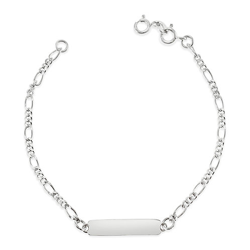 "Bitter Sweet Sterling Silver Figaro 6.5"" Inches Bracelet 143410"