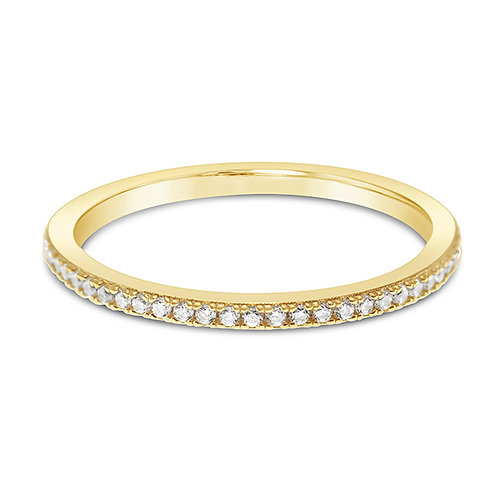 Gold Plated Sterling Silver Cubic Zirconia Ring 143163