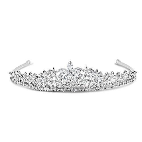 Bridal Silver Cubic Zirconia Tiara 132112-10125252