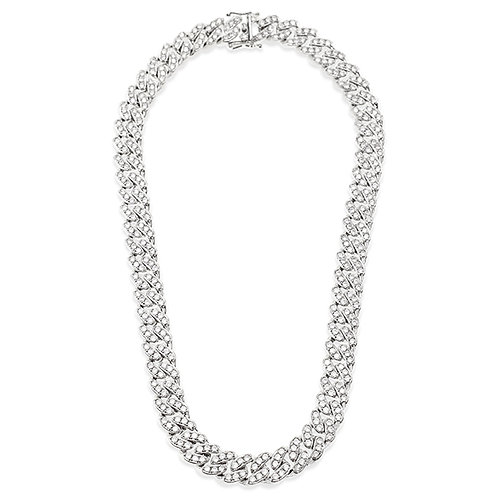 Bitter Sweet Cubic Zirconia Cuban Link Necklace 143105