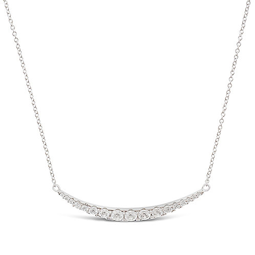 Sterling Silver Cubic Zirconia Necklace 133001