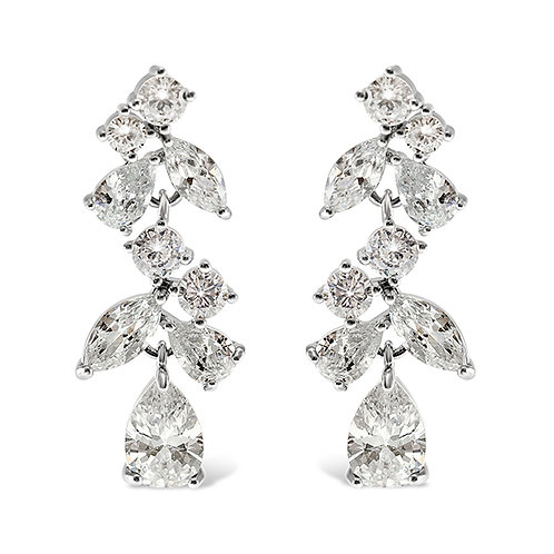 Bitter Sweet Silver Cubic Zirconia Drop Earrings 142883