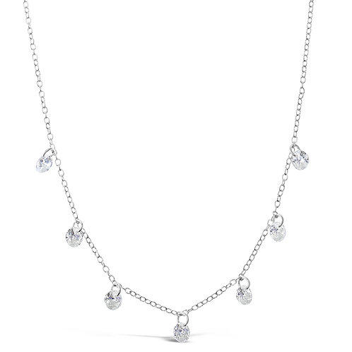 Sterling Silver Cubic Zirconia Necklace 141079