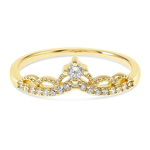 Bitter Sweet Fashion Gold Cubic Zirconia Ring 141890