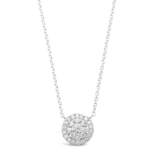 Bitter Sweet Sterling Silver Cubic Zirconia Flower Necklace 130263