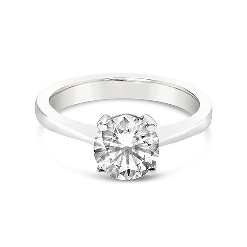 Bitter Sweet Sterling Silver Cubic Zirconia Solitaire Ring 118062