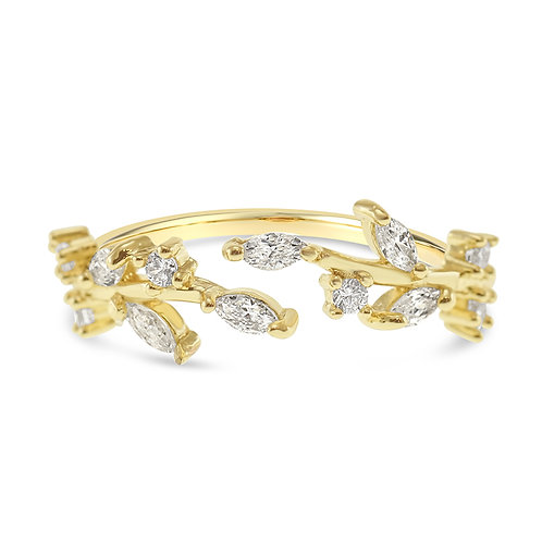 Bitter Sweet Fashion Gold Cubic Zirconia Ring 141955