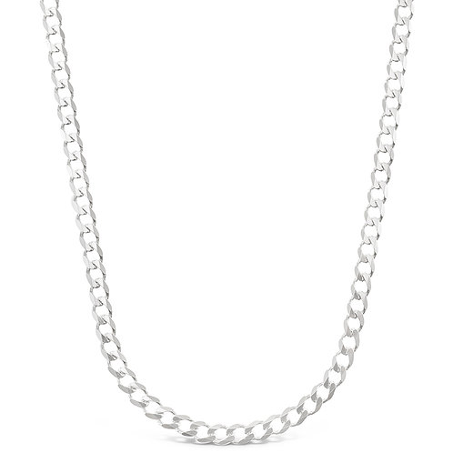 "Sterling Silver Cuban 20"" Necklace 142971"