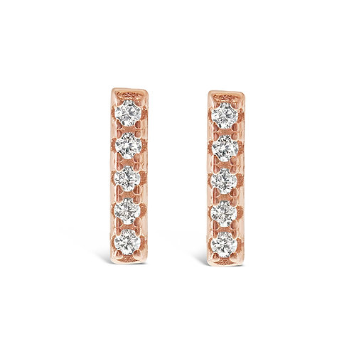 Bitter Sweet Rosegold Plated Sterling Silver Cubic Zirconia Earrings 143306