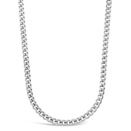 Bitter Sweet Jewellery Stainless Steel Curb Silver Necklace 142331