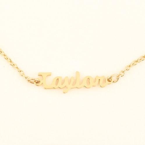 Name Plate Necklace T, V & Z