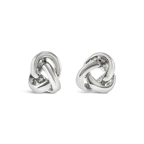 Bitter Sweet Sterling Silver Knot Earrings 143296