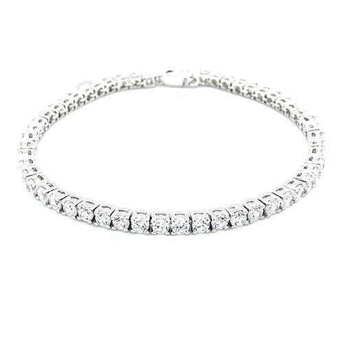Bitter Sweet Sterling Silver Cubic Zirconia Bracelet 130384