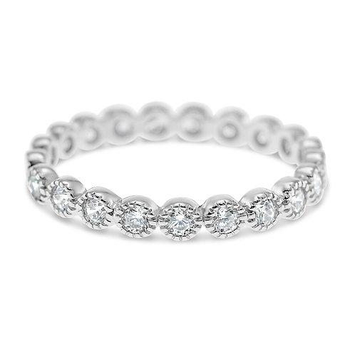 Bitter Sweet Jewellery Sterling Silver Cubic Zirconia Ring 141565