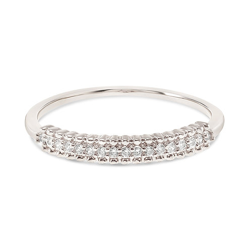 Bitter Sweet Fashion Silver Cubic Zirconia Ring 141903