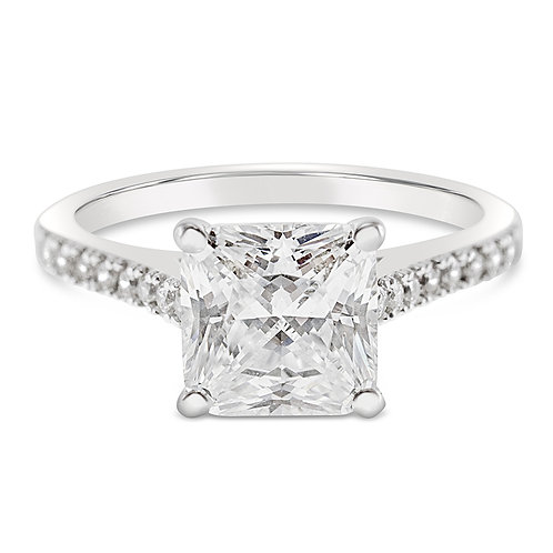 Bitter Sweet Sterling Silver Cubic Zirconia Ring 132421