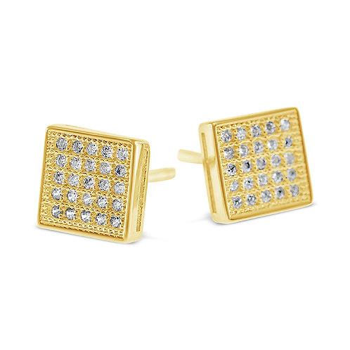 Bitter Sweet Gold Plated Sterling Silver Cubic Zirconia Earrings 142503