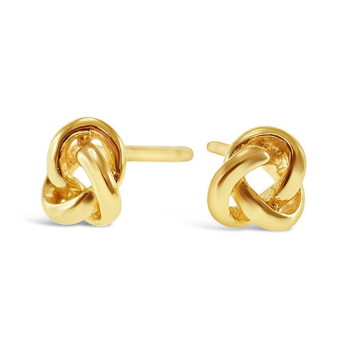 Gold Plated Sterling Silver Knot Earrings 143297