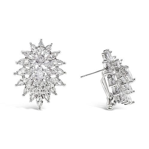 Bridal Sivler Cubic Zirconia Stud Earrings 131622