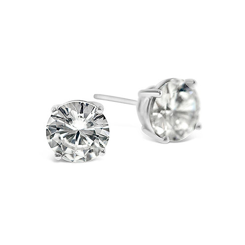 Bitter Sweet Sterling Silver Cubic Zirconia Round 2mm Studs 001453