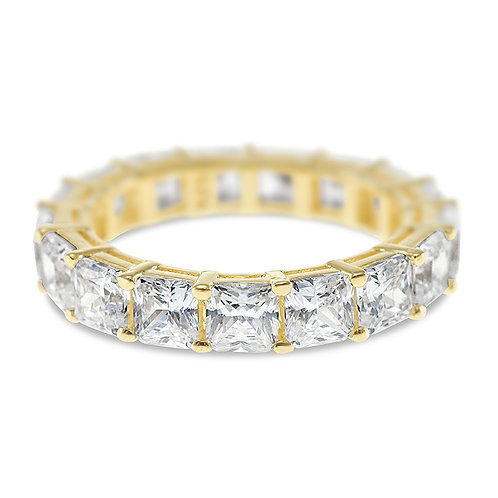 Bitter Sweet Gold Plated Sterling Silver Cubic Zirconia Ring 139222
