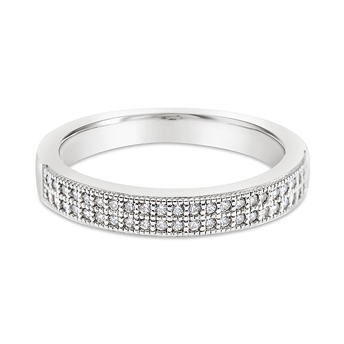 Sterling Silver Micro Pave Cubic Zirconia Ring 117735