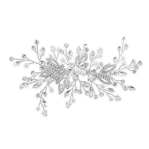 Bridal Silver Pearl Hair Clip 142035