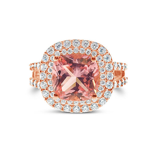 Rose Gold Plated Sterling Silver Cubic Zirconia Ring 132099