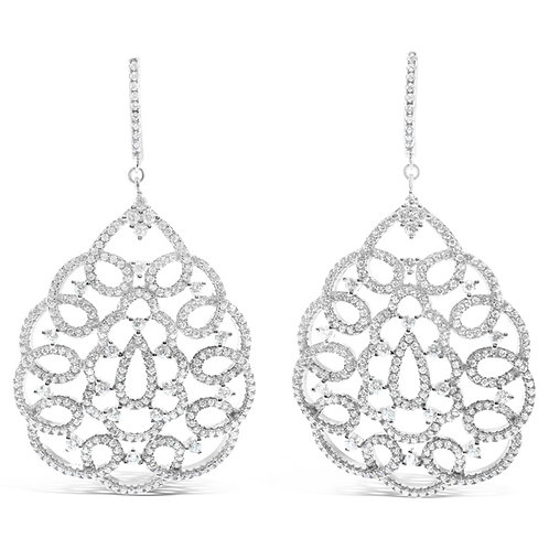 Sterling Silver Cubic Zirconia Earrings 132692