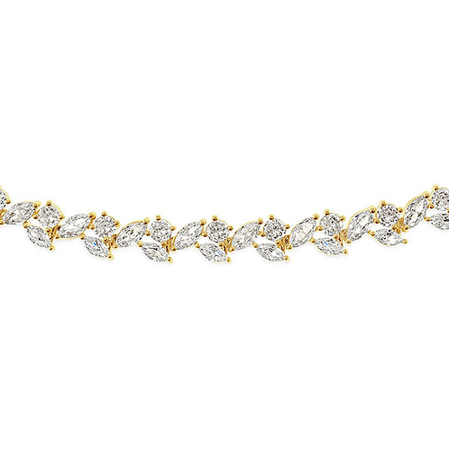 Bitter Sweet Bridal Gold Cubic Zirconia Bracelet 142897
