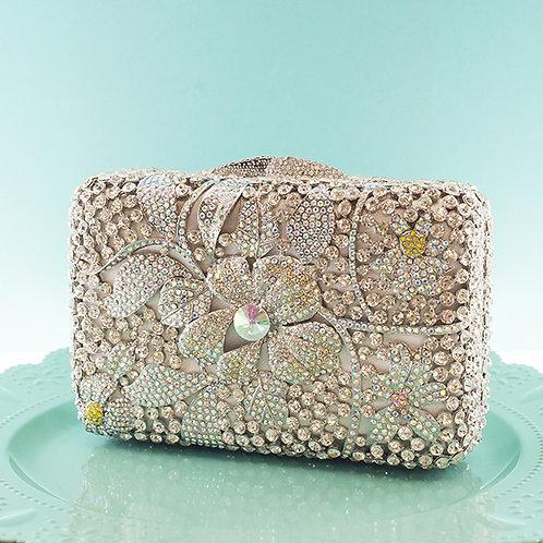 Fancy Flower Crystal Clutch 130951