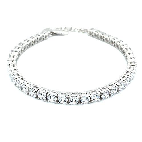 Bitter Sweet Sterling Silver Cubic Zirconia Bracelet 113761