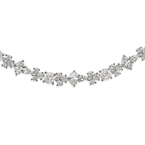 Bitter Sweet Bridal Silver Cubic Zirconia Bracelet 142895